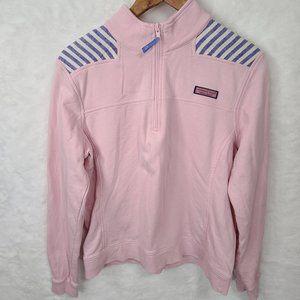 Vineyard Vines Shep Shirt Half Zip Pink